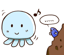 Pretty jellyfish sticker #643418