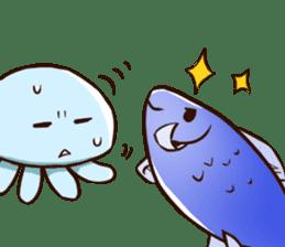 Pretty jellyfish sticker #643421
