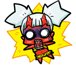 Japanese Red Demon girl sticker #644910