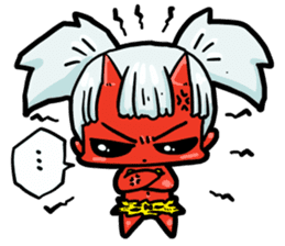 Japanese Red Demon girl sticker #644911