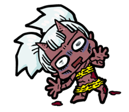 Japanese Red Demon girl sticker #644919