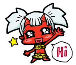 Japanese Red Demon girl sticker #644923