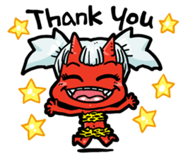 Japanese Red Demon girl sticker #644926
