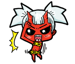 Japanese Red Demon girl sticker #644928