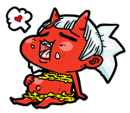 Japanese Red Demon girl sticker #644937