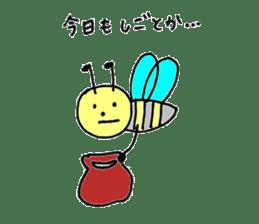 a worker bee sticker #644961