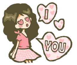 The girl who is in love sticker #652510