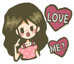 The girl who is in love sticker #652514