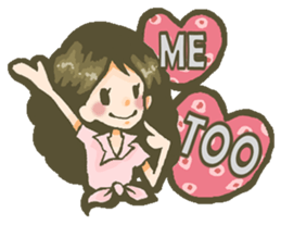 The girl who is in love sticker #652525