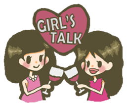 The girl who is in love sticker #652545