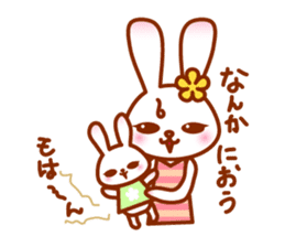 Rabbit Mother is very busy sticker #652874