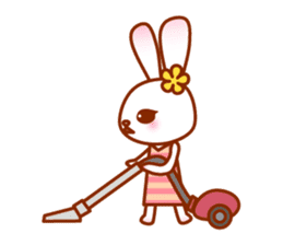 Rabbit Mother is very busy sticker #652878