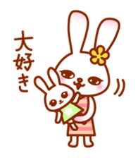 Rabbit Mother is very busy sticker #652883