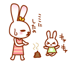 Rabbit Mother is very busy sticker #652886