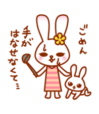 Rabbit Mother is very busy sticker #652891