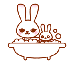 Rabbit Mother is very busy sticker #652899