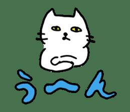 White cat sticker #653206
