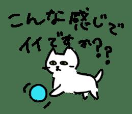 White cat sticker #653213