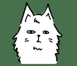 White cat sticker #653224