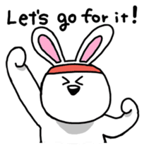 Acchan of rabbit English version sticker #655828