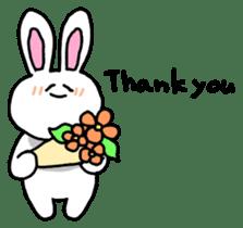 Acchan of rabbit English version sticker #655843
