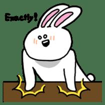 Acchan of rabbit English version sticker #655851