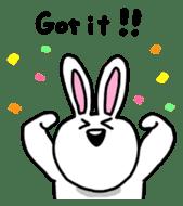 Acchan of rabbit English version sticker #655853