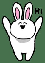 Acchan of rabbit English version sticker #655860