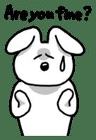 Acchan of rabbit English version sticker #655862