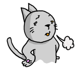 Cat for answering Everyday of the Coro sticker #656793
