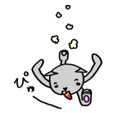 Cat for answering Everyday of the Coro sticker #656809