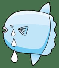 Ocean sunfish Mola sticker #657468