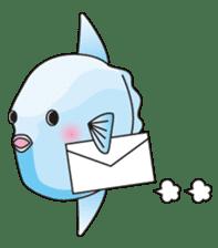 Ocean sunfish Mola sticker #657473
