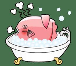 Ocean sunfish Mola sticker #657480
