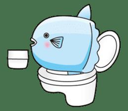 Ocean sunfish Mola sticker #657481