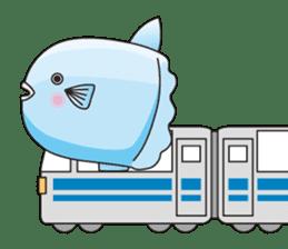 Ocean sunfish Mola sticker #657482