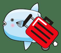 Ocean sunfish Mola sticker #657483