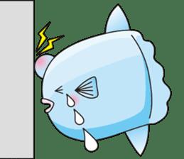Ocean sunfish Mola sticker #657486