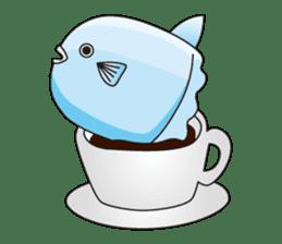 Ocean sunfish Mola sticker #657488