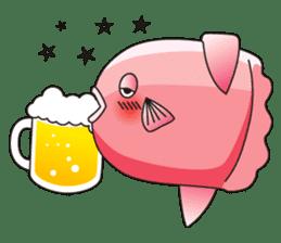 Ocean sunfish Mola sticker #657489