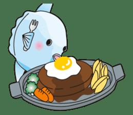 Ocean sunfish Mola sticker #657490