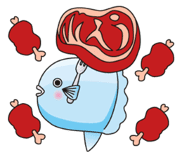 Ocean sunfish Mola sticker #657491