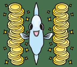 Ocean sunfish Mola sticker #657493