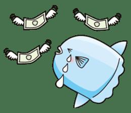 Ocean sunfish Mola sticker #657494