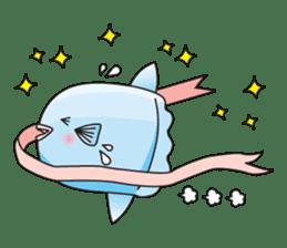Ocean sunfish Mola sticker #657500
