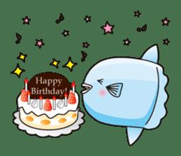 Ocean sunfish Mola sticker #657501
