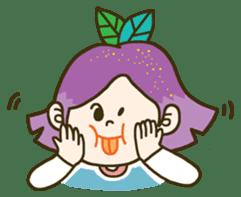 Purple star sticker #657786