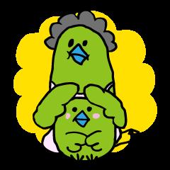 Little green bird(mom & kids ver.)