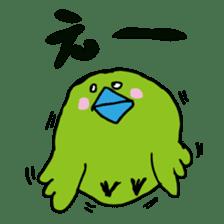 Little green bird(mom & kids ver.) sticker #659334