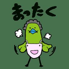 Little green bird(mom & kids ver.) sticker #659340